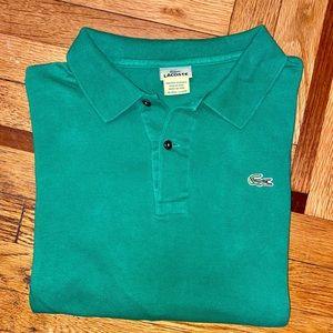 Men's Green Lacoste Polo